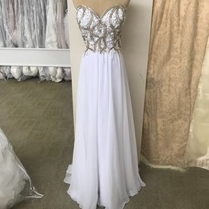 Plus Size White Formal Gown